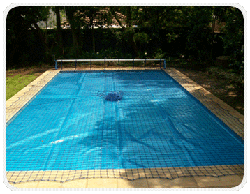 Swimming Pool Safety Net with Cover